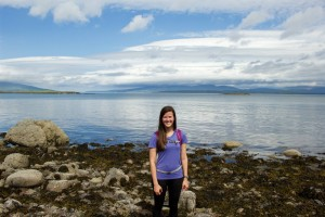 Tori in her Scotland adventure